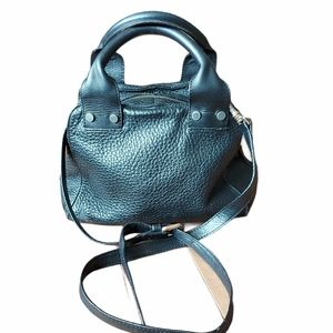 & other stories black leather crossbody bag